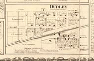 Dudley - Edgar Co., Illinois 1870 Old Town Map Custom Print - Edgar Co.