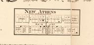 New Athens - Edgar Co., Illinois 1870 Old Town Map Custom Print - Edgar Co.