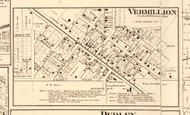 Vermillion - Edgar Co., Illinois 1870 Old Town Map Custom Print - Edgar Co.