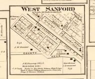 West Sanford - Edgar Co., Illinois 1870 Old Town Map Custom Print - Edgar Co.