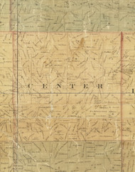 Center, Iowa 1872 Old Town Map Custom Print - Allamakee Co.