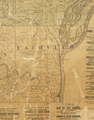 Fairview, Iowa 1872 Old Town Map Custom Print - Allamakee Co.