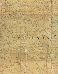 Jefferson, Iowa 1872 Old Town Map Custom Print - Allamakee Co.