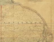 Lafayette, Iowa 1872 Old Town Map Custom Print - Allamakee Co.