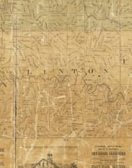 Linton, Iowa 1872 Old Town Map Custom Print - Allamakee Co.