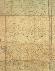 Makee, Iowa 1872 Old Town Map Custom Print - Allamakee Co.