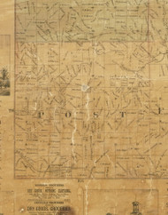 Post, Iowa 1872 Old Town Map Custom Print - Allamakee Co.
