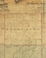 Union City, Iowa 1872 Old Town Map Custom Print - Allamakee Co.