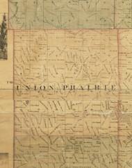 Union Prairie, Iowa 1872 Old Town Map Custom Print - Allamakee Co.