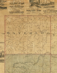 Waterloo, Iowa 1872 Old Town Map Custom Print - Allamakee Co.