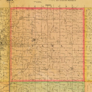 Carl, Iowa 1884 Old Town Map Custom Print - Adams Co.