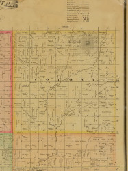 Colony, Iowa 1884 Old Town Map Custom Print - Adams Co.