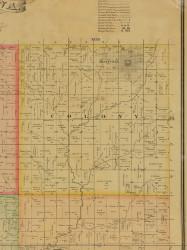 Colony, Iowa 1884 Old Town Map Custom Print - Adams Co.