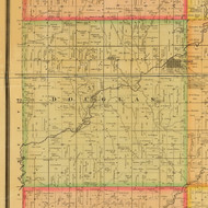 Douglas, Iowa 1884 Old Town Map Custom Print - Adams Co.