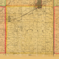 Jasper, Iowa 1884 Old Town Map Custom Print - Adams Co.