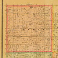 Lincoln, Iowa 1884 Old Town Map Custom Print - Adams Co.