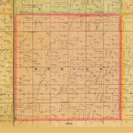 Mercer, Iowa 1884 Old Town Map Custom Print - Adams Co.