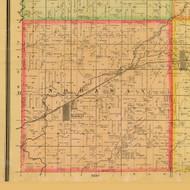 Nodaway, Iowa 1884 Old Town Map Custom Print - Adams Co.