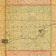 Prescott, Iowa 1884 Old Town Map Custom Print - Adams Co.