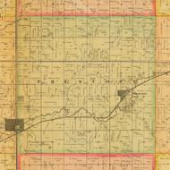 Prescott, Iowa 1884 Old Town Map Custom Print - Adams Co.