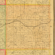 Union, Iowa 1884 Old Town Map Custom Print - Adams Co.