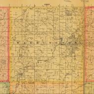 Washington, Iowa 1884 Old Town Map Custom Print - Adams Co.