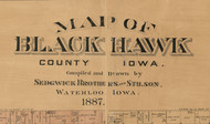Title of Source Map - Black Hawk Co., Iowa 1887 - NOT FOR SALE - Black Hawk Co.