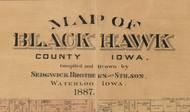 Title of Source Map - Black Hawk Co., Iowa 1887 - NOT FOR SALE - Black Hawk Co.