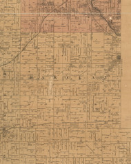 Barclay, Iowa 1887 Old Town Map Custom Print - Black Hawk Co.