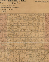 Bennington, Iowa 1887 Old Town Map Custom Print - Black Hawk Co.