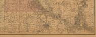 Big Creek, Iowa 1887 Old Town Map Custom Print - Black Hawk Co.