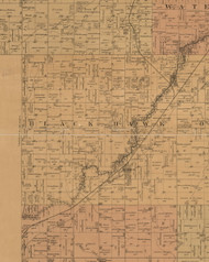 Black Hawk, Iowa 1887 Old Town Map Custom Print - Black Hawk Co.