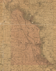 Cedar, Iowa 1887 Old Town Map Custom Print - Black Hawk Co.