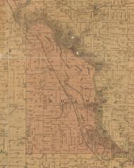 Cedar, Iowa 1887 Old Town Map Custom Print - Black Hawk Co.