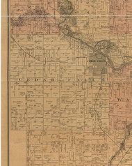 Cedar Falls, Iowa 1887 Old Town Map Custom Print - Black Hawk Co.