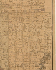 Fox, Iowa 1887 Old Town Map Custom Print - Black Hawk Co.