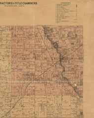 Lester, Iowa 1887 Old Town Map Custom Print - Black Hawk Co.