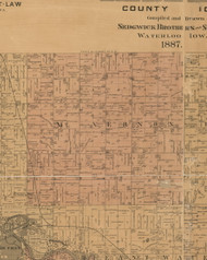 Mt. Vernon, Iowa 1887 Old Town Map Custom Print - Black Hawk Co.