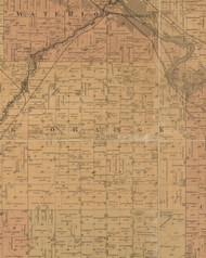 Orange, Iowa 1887 Old Town Map Custom Print - Black Hawk Co.