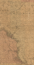 Poyner, Iowa 1887 Old Town Map Custom Print - Black Hawk Co.