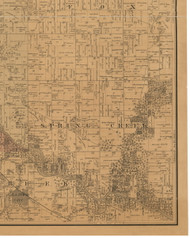 Spring Creek, Iowa 1887 Old Town Map Custom Print - Black Hawk Co.