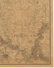 Spring Creek, Iowa 1887 Old Town Map Custom Print - Black Hawk Co.