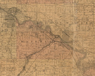 Waterloo, Iowa 1887 Old Town Map Custom Print - Black Hawk Co.