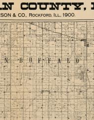 Buffalo, Iowa 1900 Old Town Map Custom Print - Buchanan Co.