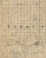 Nyron, Iowa 1900 Old Town Map Custom Print - Buchanan Co.