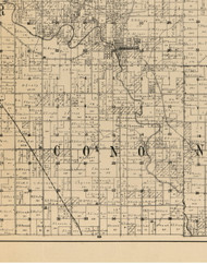 Cono, Iowa 1900 Old Town Map Custom Print - Buchanan Co.