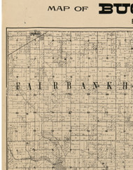 Fairbank, Iowa 1900 Old Town Map Custom Print - Buchanan Co.