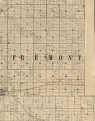 Freemont, Iowa 1900 Old Town Map Custom Print - Buchanan Co.