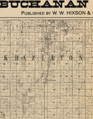 Hazleton, Iowa 1900 Old Town Map Custom Print - Buchanan Co.