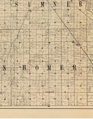 Homer, Iowa 1900 Old Town Map Custom Print - Buchanan Co.